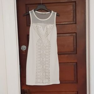 Dresses & Skirts - White dress size small with shear top part